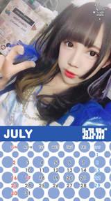 7月ちゃんももカレンダー